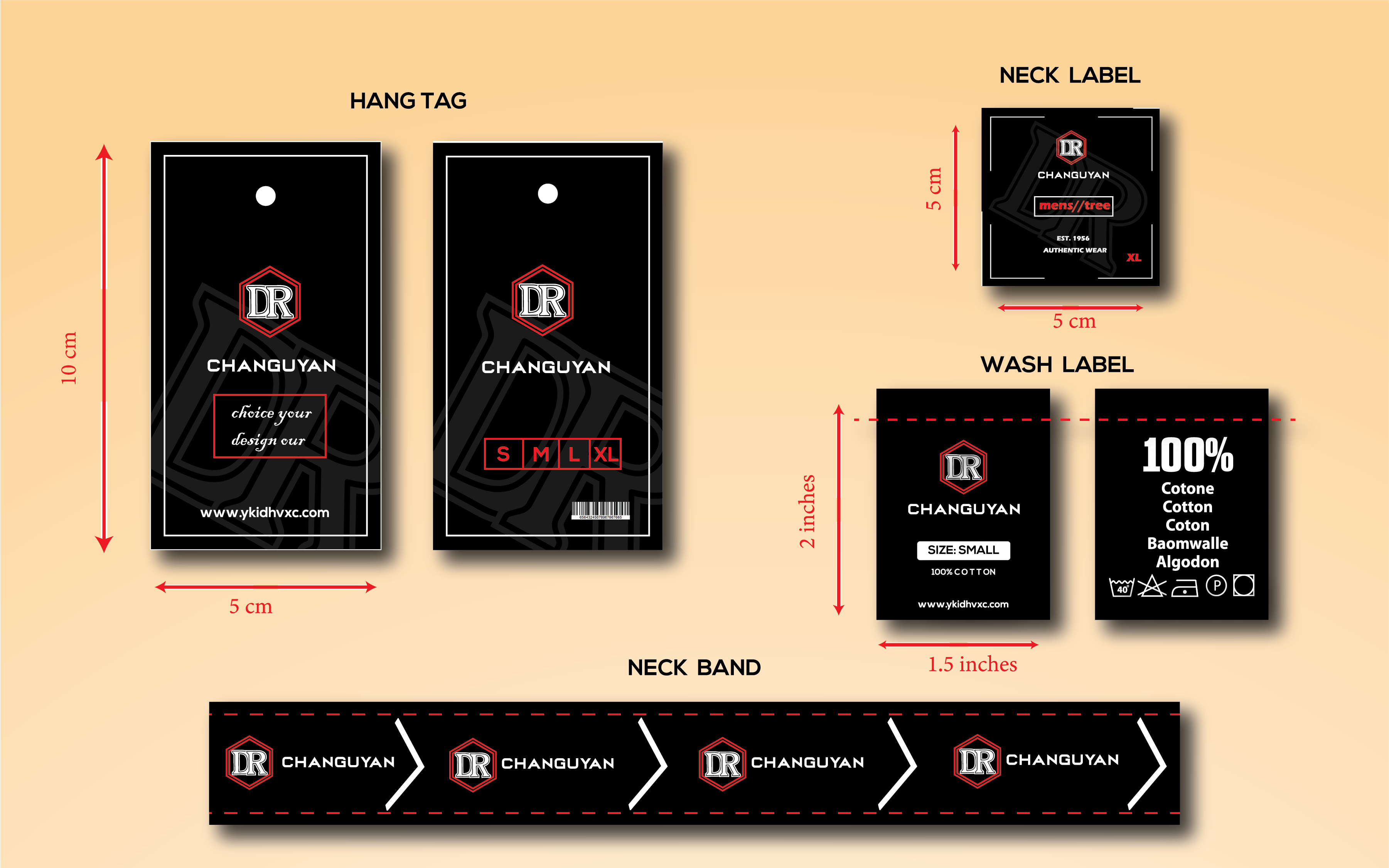 I will design cloth label,  hang tag for you in 6 hours