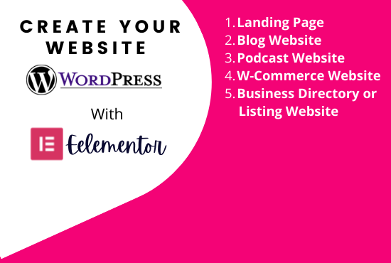 I will design wordpress website or landing page with elementor pro
