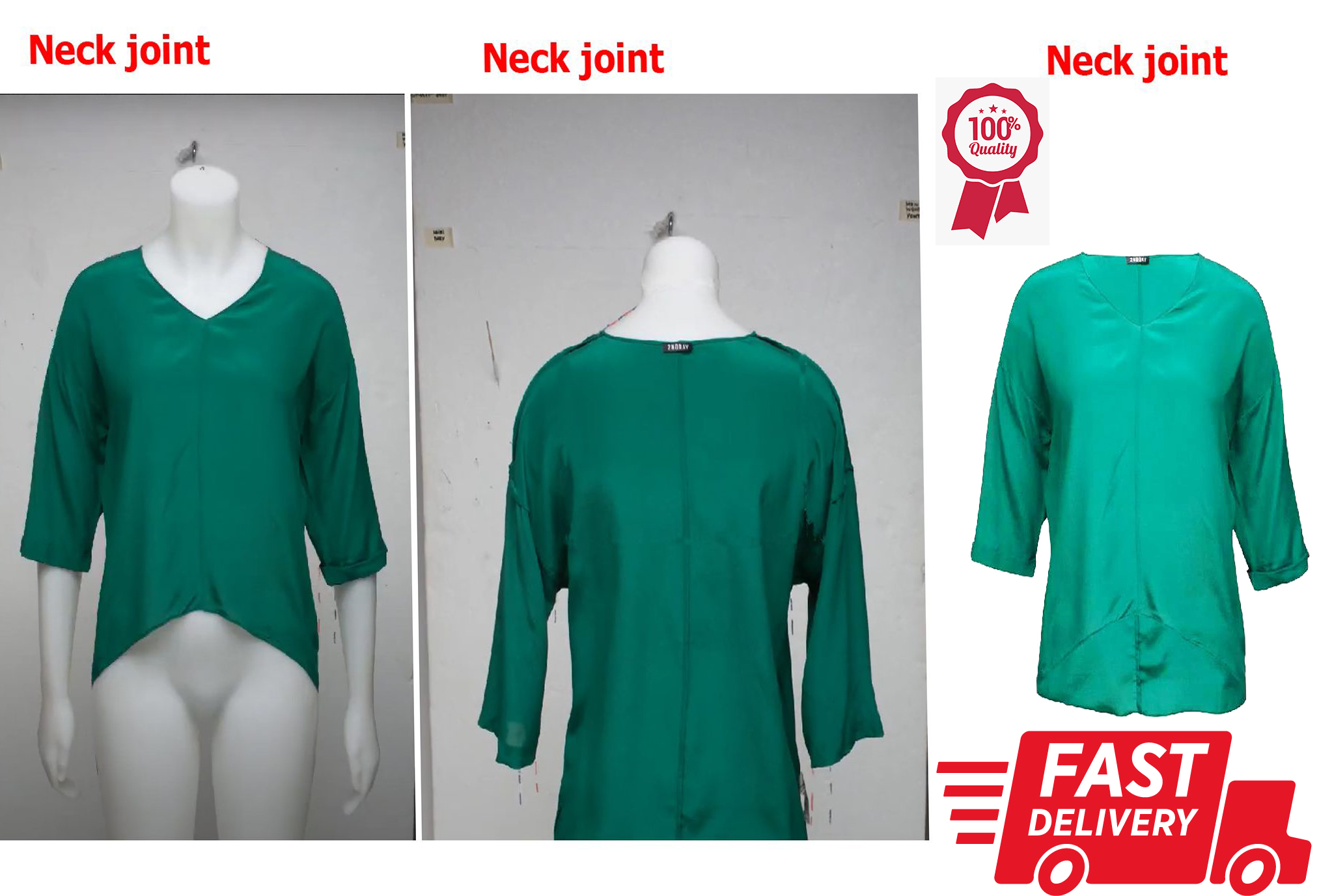I will do ghost mannequin,  neck joint,  image editing in 24 hours