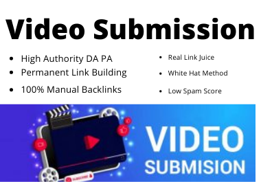 50 Live Video Submission backlinks high authority permanent dofollow link building