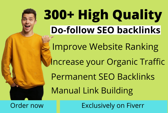 I will do high quality SEO backlink,  authority link building for google ranking