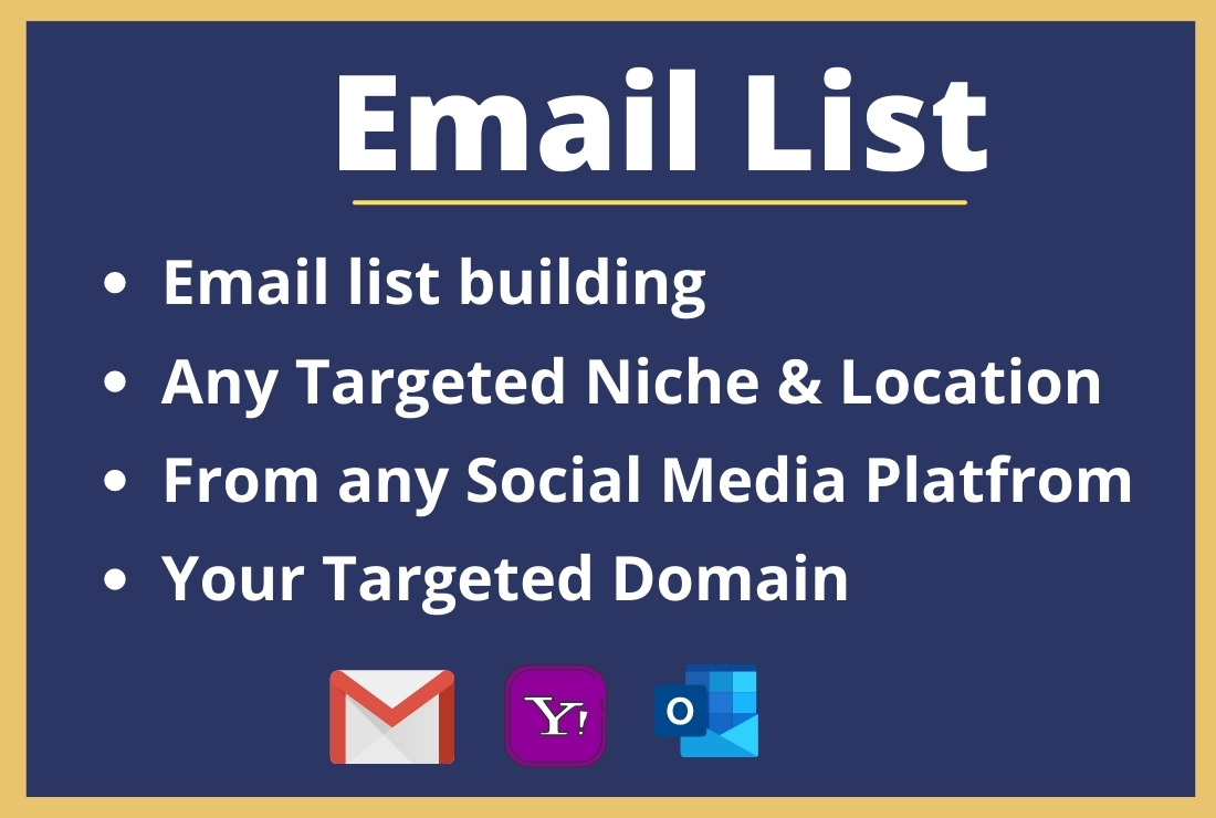 I will collect bulk email list from any targeted location and keyword