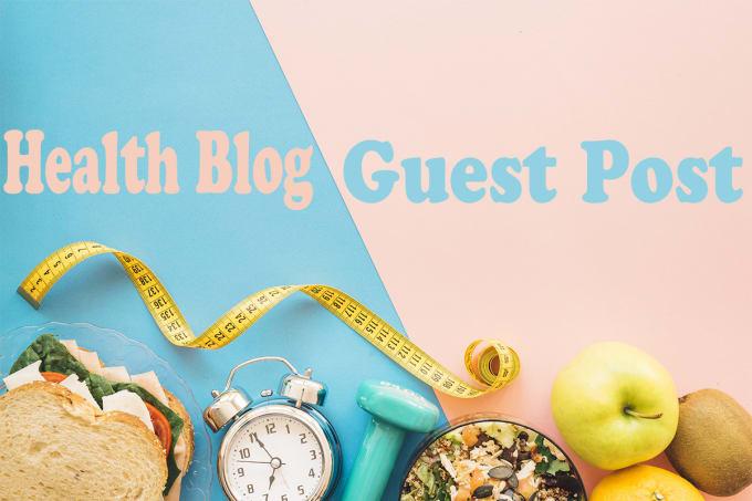 I will do 3 guest post on 60+ da health website
