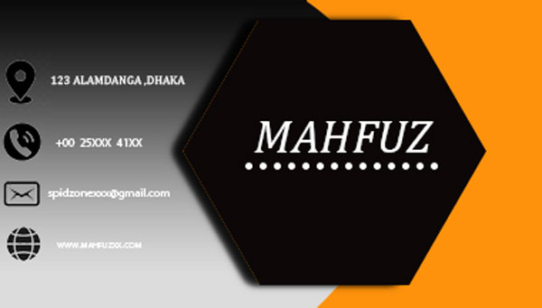 I will making awesome business card in 1 hour