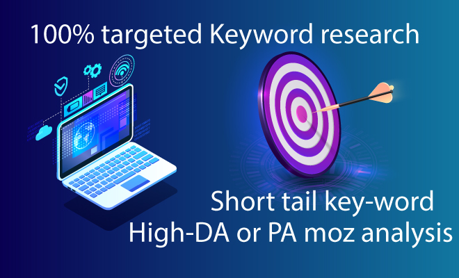 I will do 100 SEO keyword research and competitor analysis