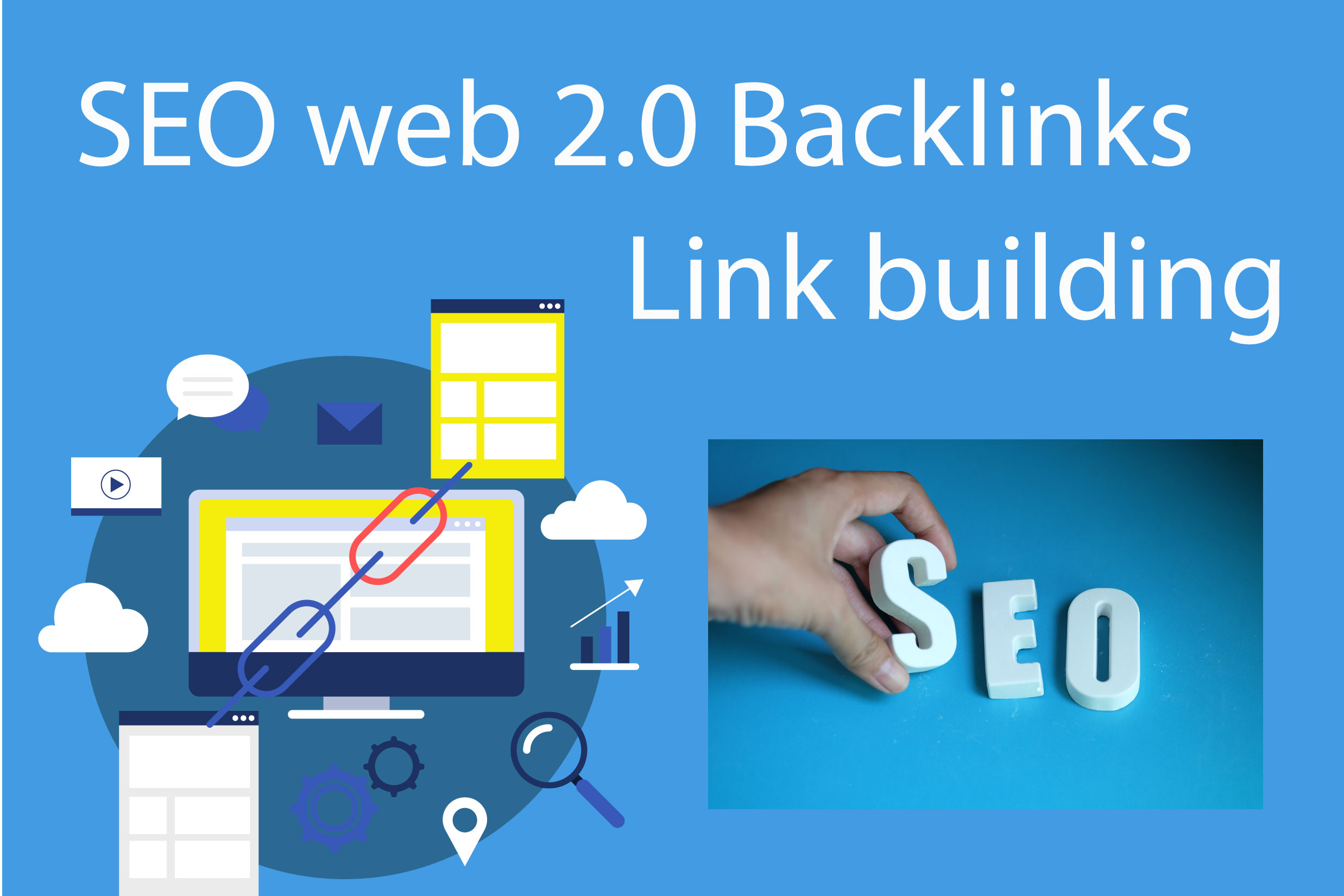 I will Great Offer Power full Web 2,  backlinks for your Business