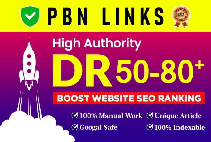 I will build 50 SEO dofollow backlinks from high quality