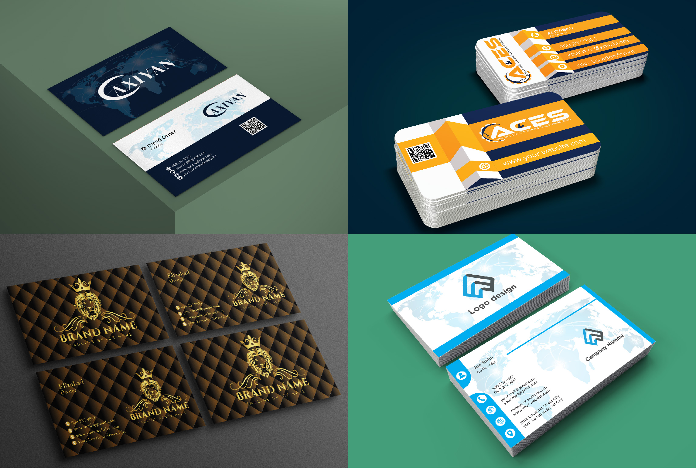 I will create professional,  creative,  unique,  luxury,  modern & minimalist business card