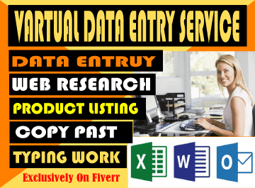 Data Entry,  Typing,  Copy and Paste works offered by sheikhseoexpert.