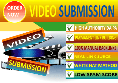 Manually Submit Video,  50 Video Sharing Submission Pr10 Sites
