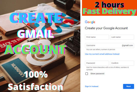 I will create email account for you