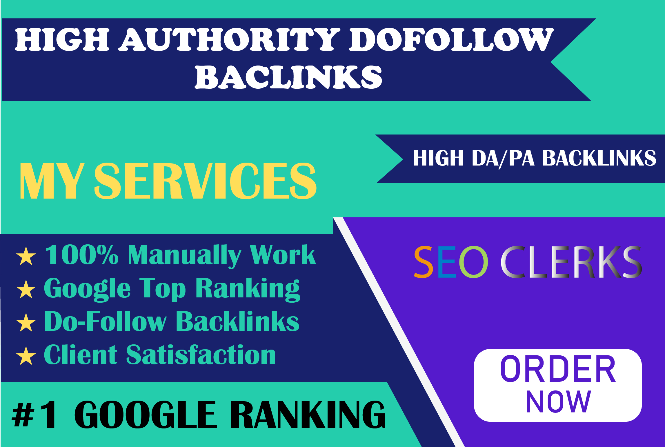 I will manually create high authority white hat SEO link building to increase Google ranking