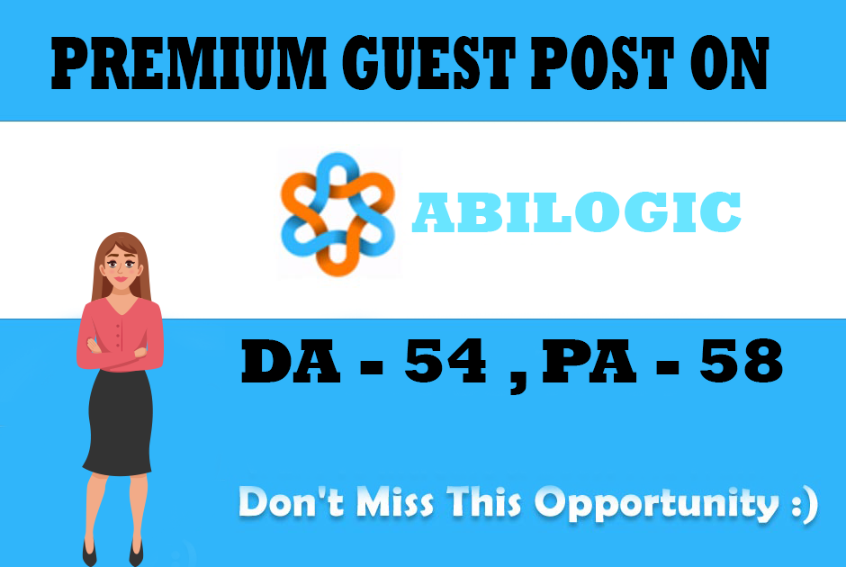 I will publish guest post on abilogic. com site with dofollow backlink