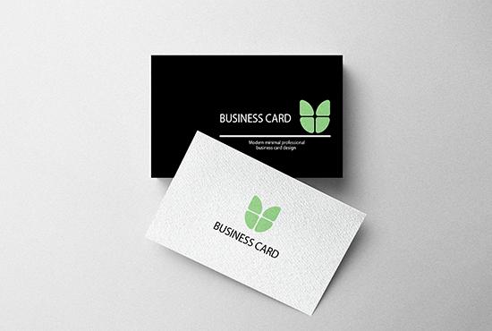 I will design print ready elegant and minimal business card