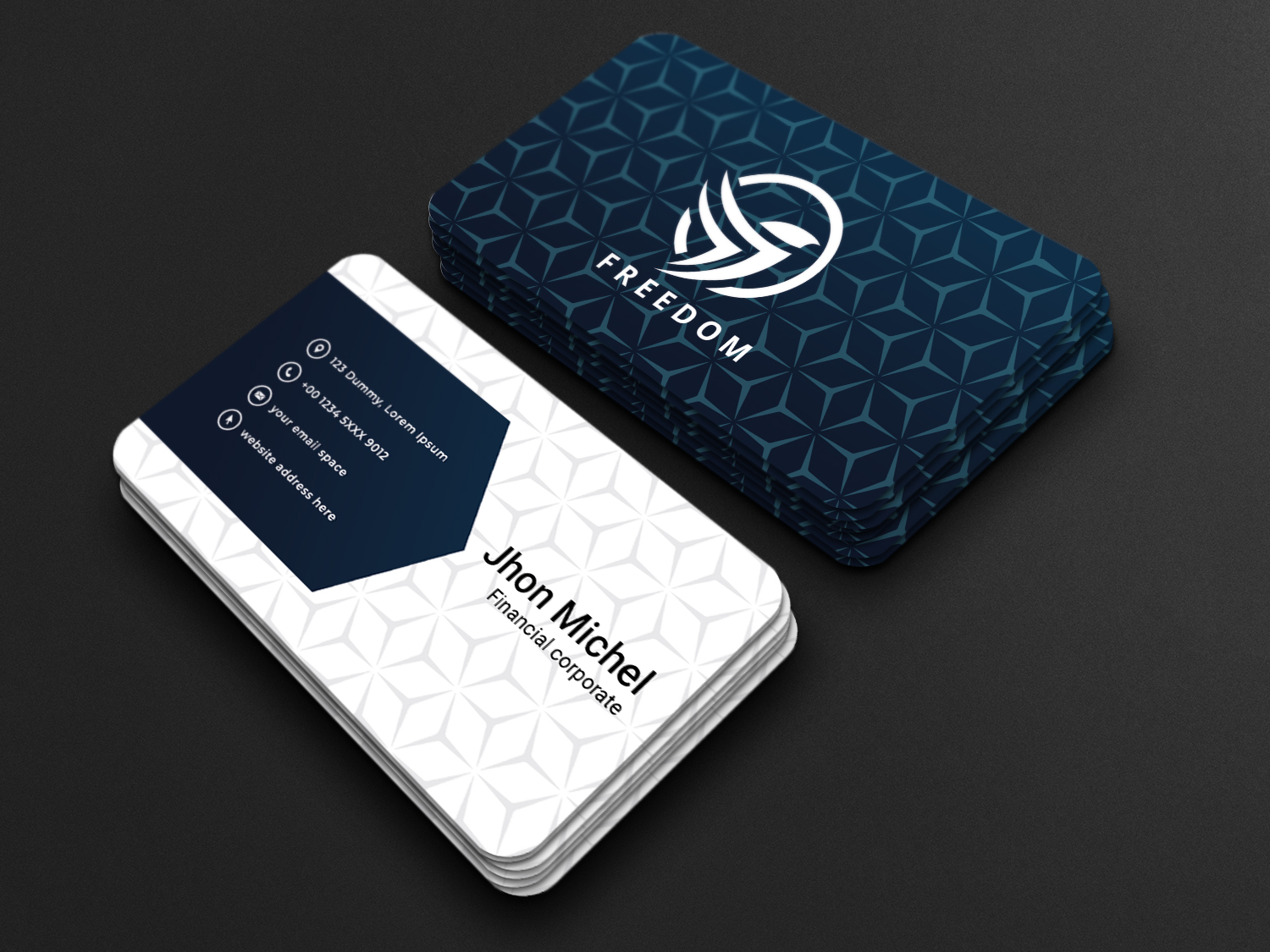 I will creative design business card,  letterhead,  and stationary