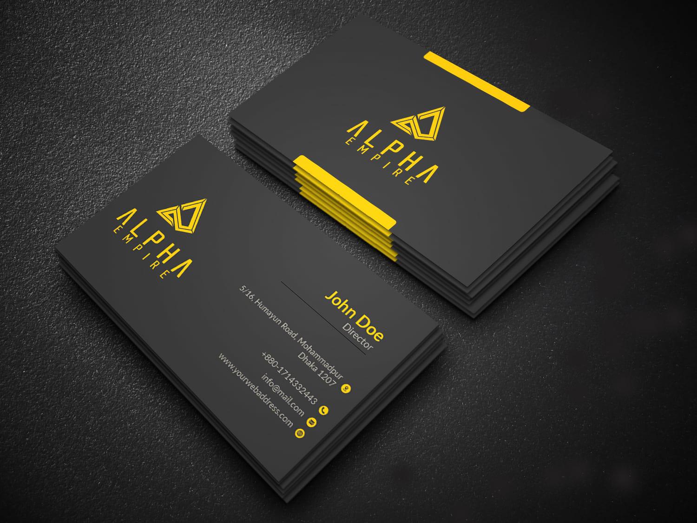 I will design minimalist business card in 2 days