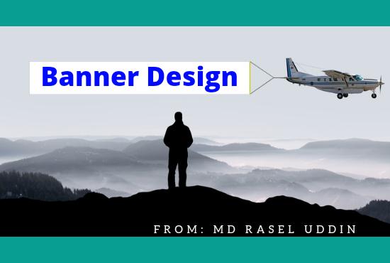 I will do stylish web banner,  header,  social media post and website