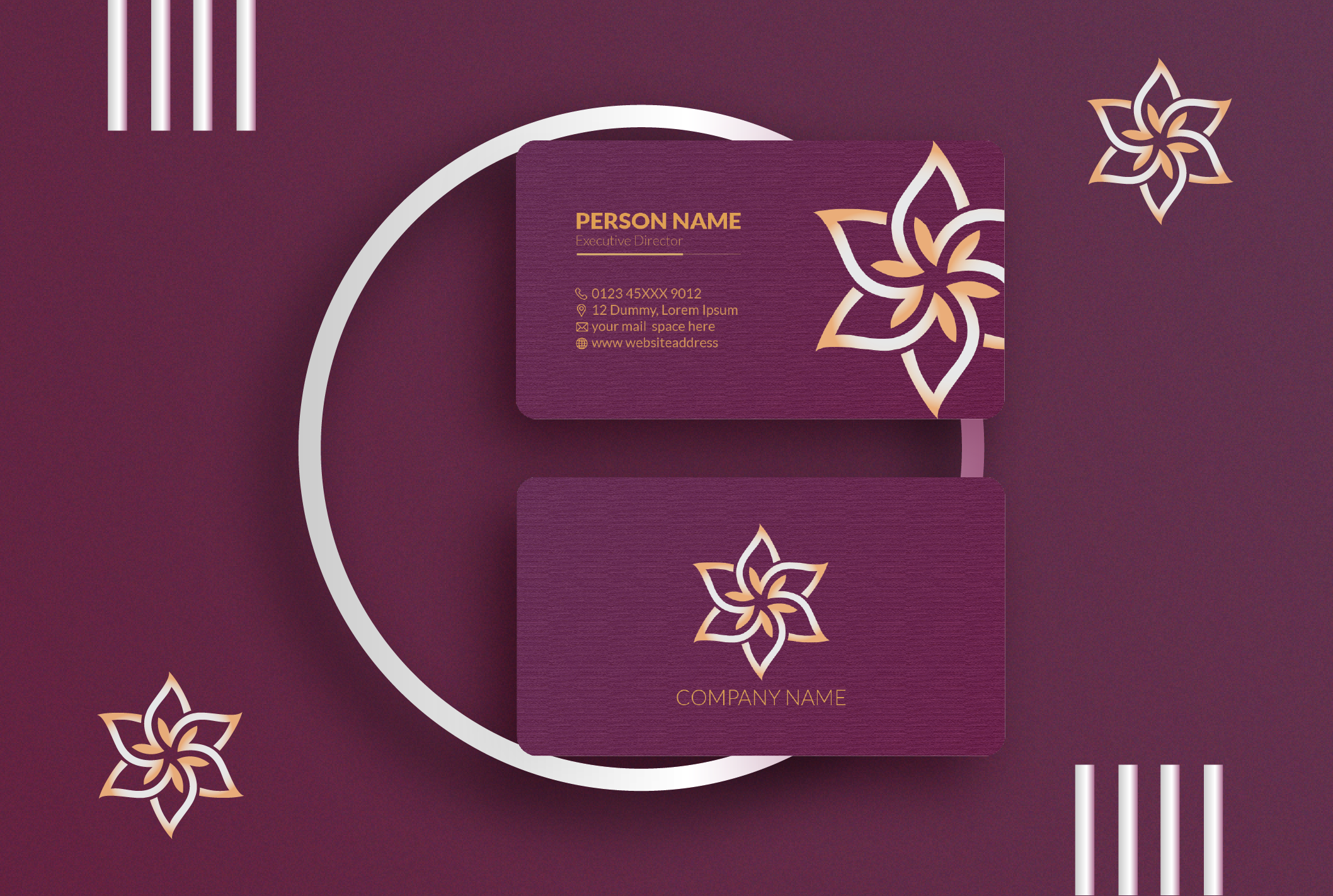 I will design professional and premium quality business card for you within 24 hours