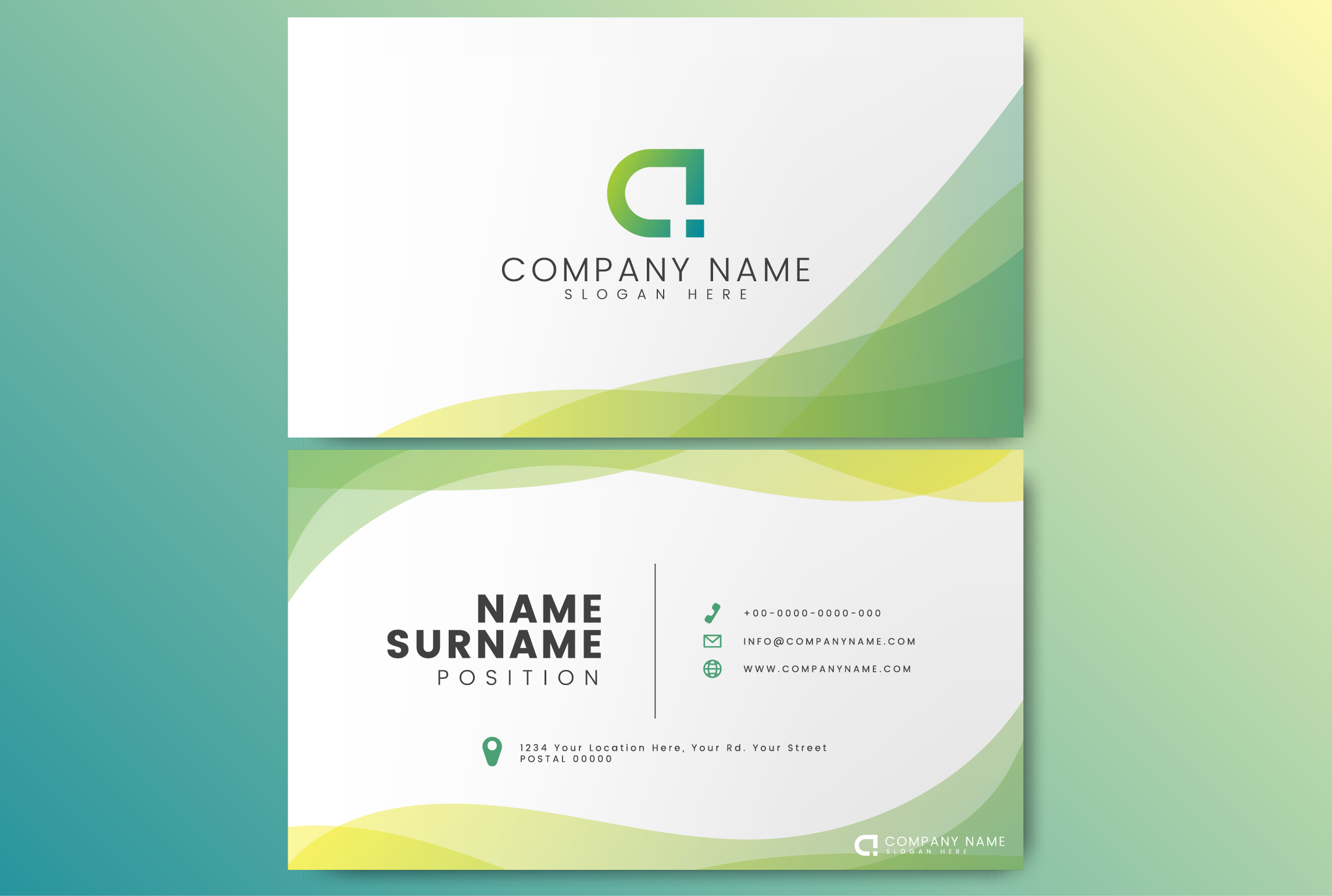 I will design a minimal business card for you