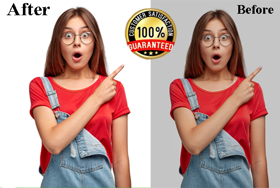 I will do Photos Retouching,  Editing and Background Removal Images Professionally.