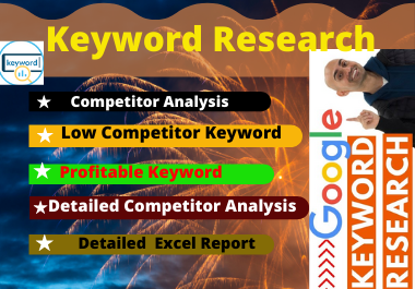 20 Keyword research with high volume organic traffic with on page seo to rank your website