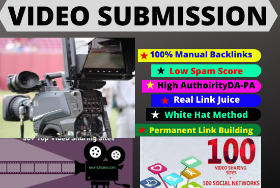 80 video Submission backlinks high authority permanent dofollow backlinks sites