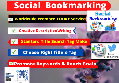 80 Social Bookmarking,  Manualy Social Bookmarking Submission with High-Quality Backlinks