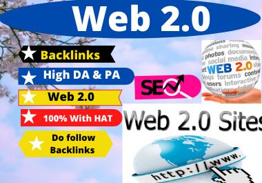 80 WEB 2.0 High Authority Permanent Contextual Backlinks White high DA-PA Link Building