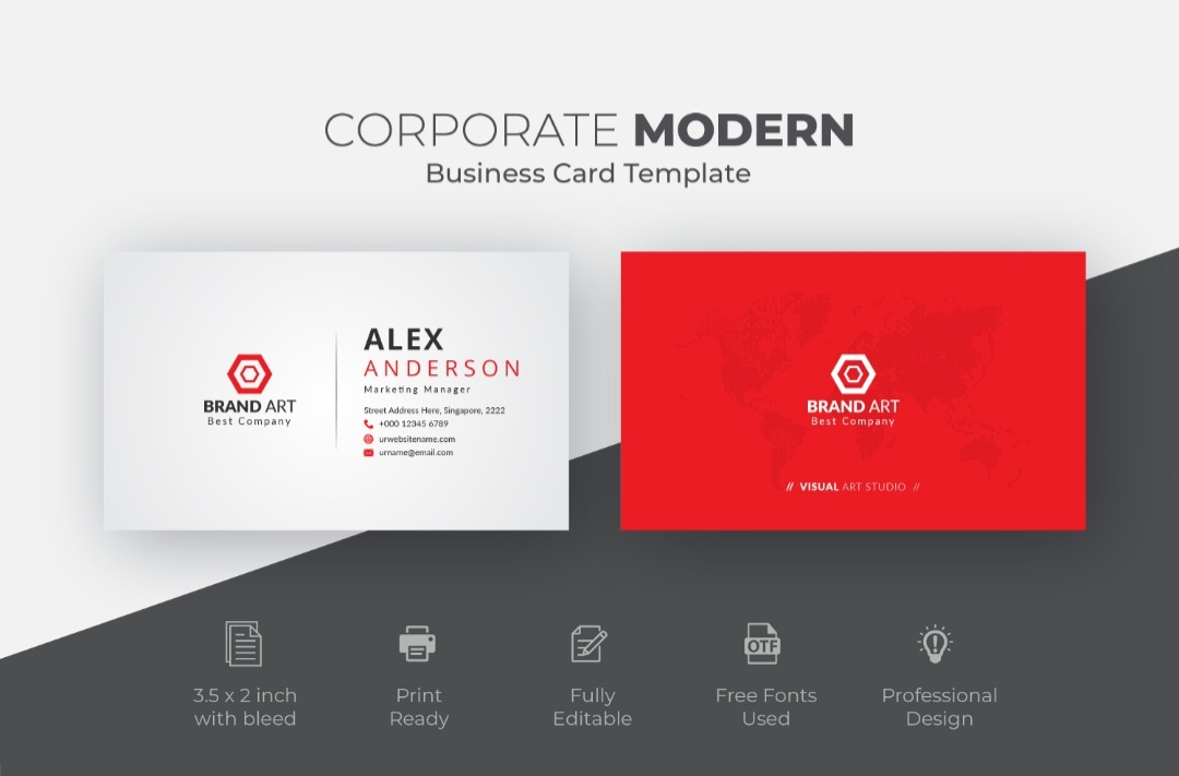 I will do peofessional business card design