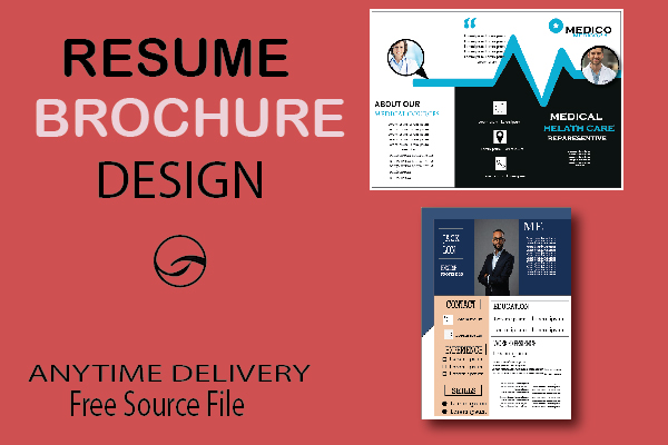 I Will make a professional Brochure and Resume Design