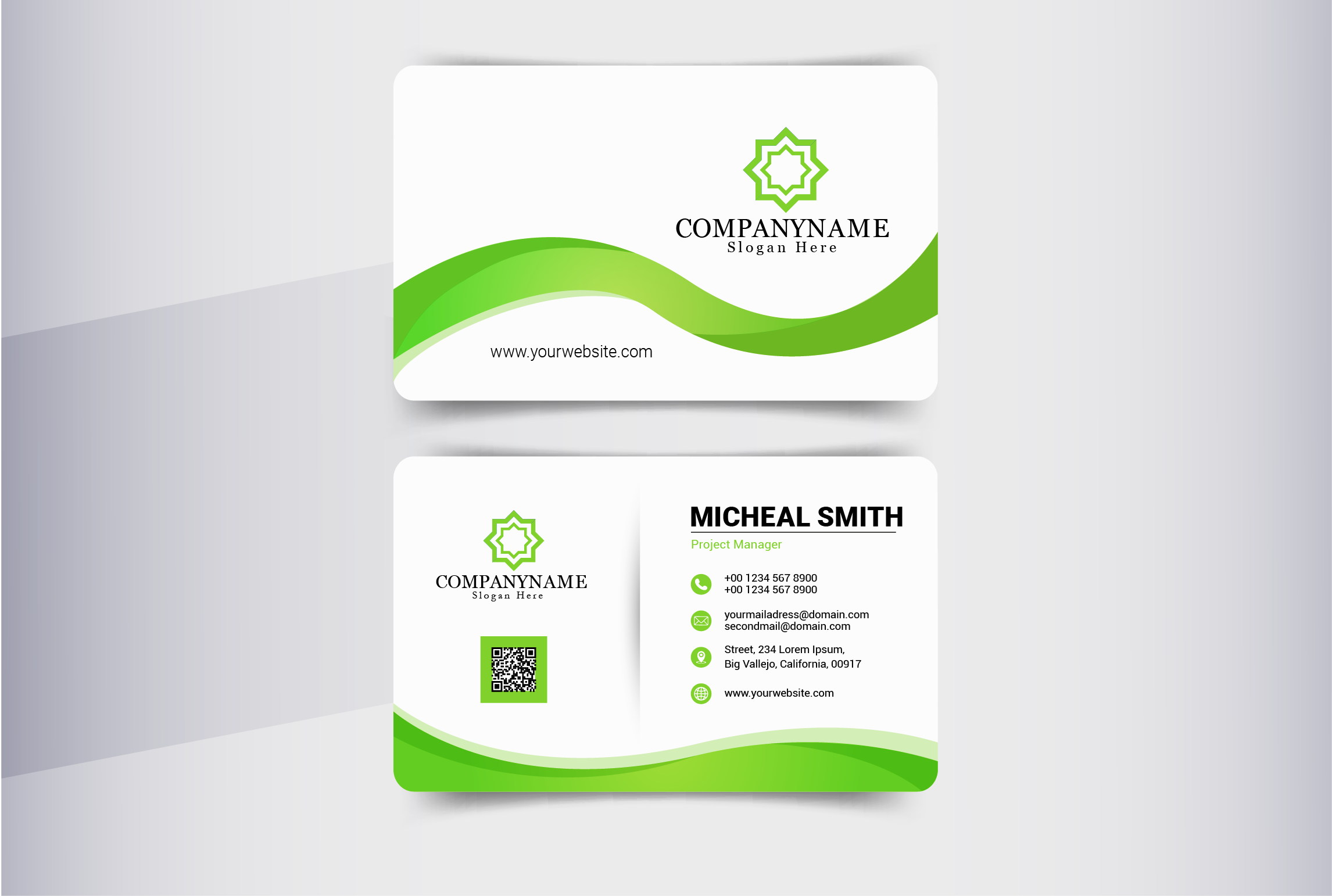 I will design modern business card with mocup