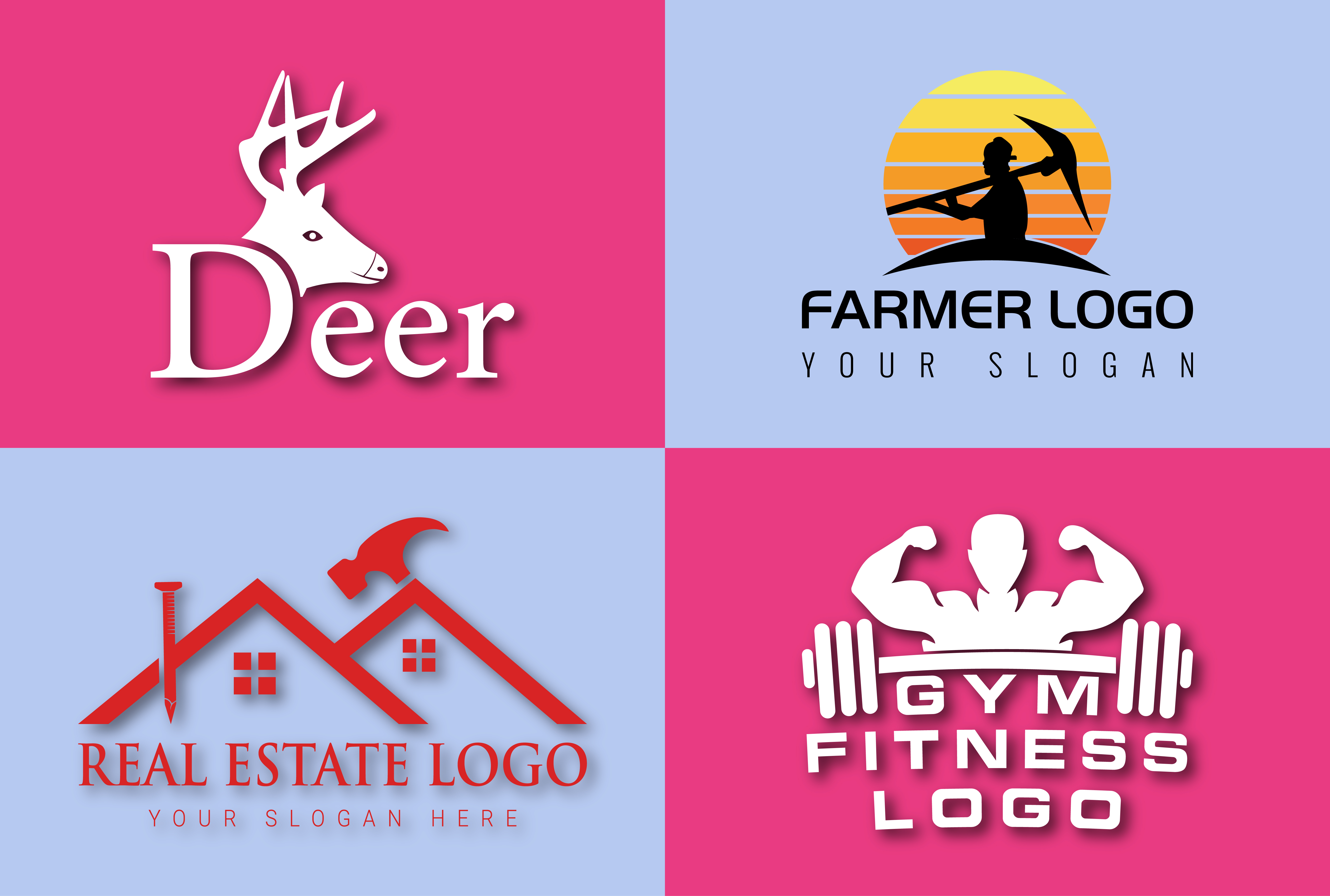 3-4 Concepts design LOGO Creator & Designer