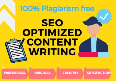I write 400 - 1000 WORDS SEO articles 100 unique