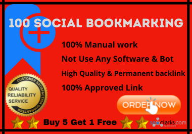 100 High Authority Indexable Rank & Traffic boosting Social Bookmark Backlinks