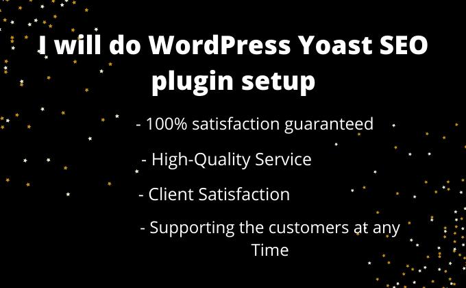 I will do Wordpress Yoast SEO plugin setup