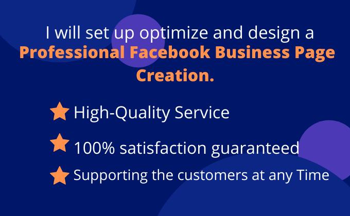 I will setup impressive facebook business page