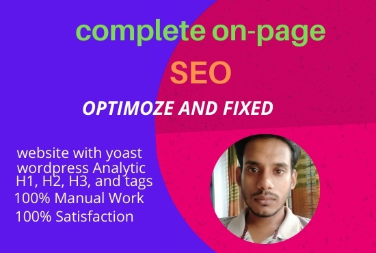 I will complete on-page SEO service for your website