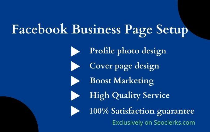Advance Facebook business page setup Cover design Instant responder