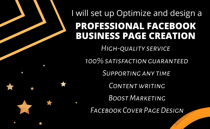 I will set up optimize and design a professional facebook business page