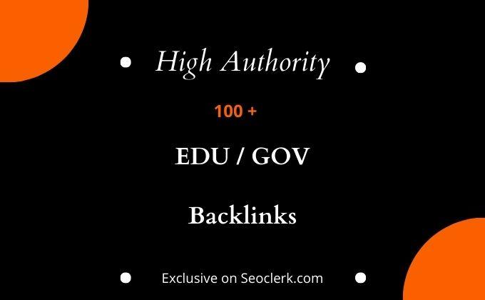 I will provide your 100 high quality edu gov backlinks
