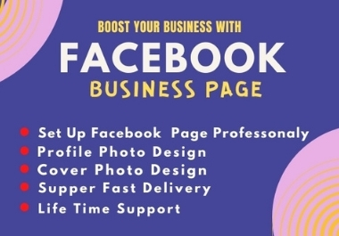 Create and design facebook business page professionally