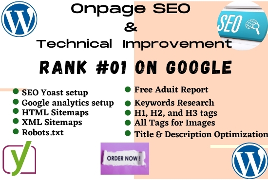 I will do complete on-page SEO and technical optimization of the WordPress website