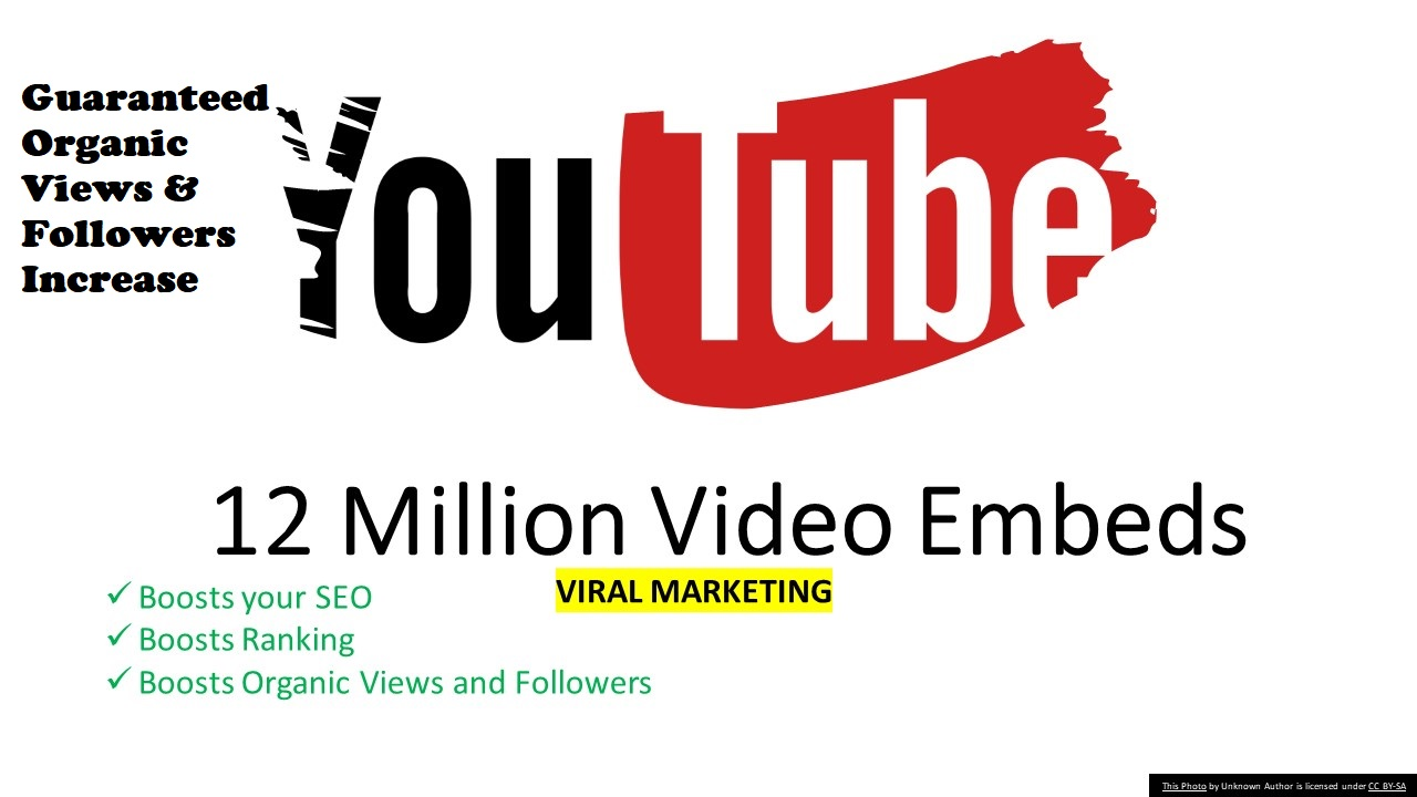 I will create 12 million youtube video embeds viral marketing