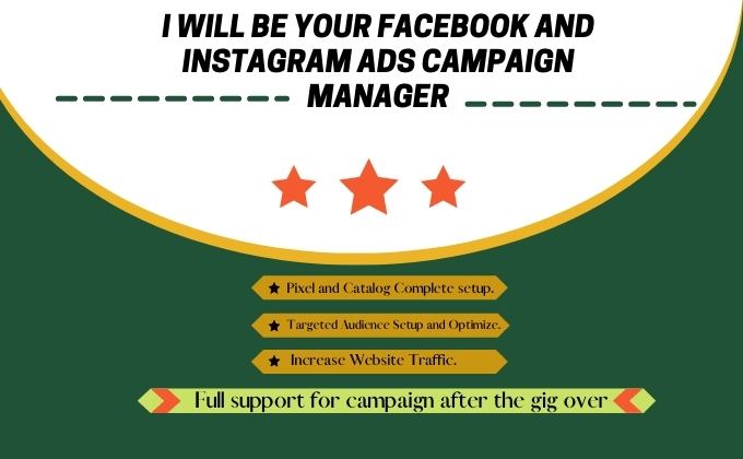 I will be your Facebook ads campaign manager.