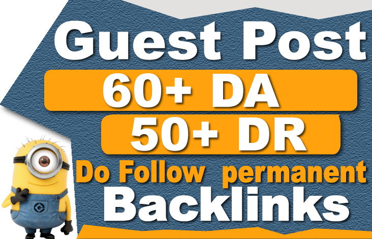 I will do guest post on high DA & PA dofollow seo backlinks on related sites