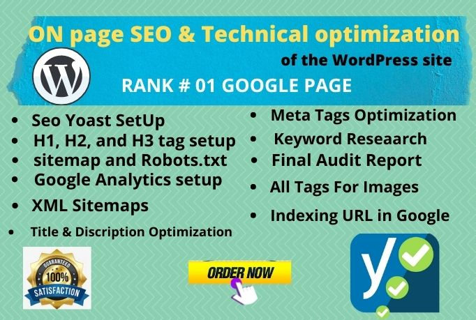 I Will Do on-page SEO and technical optimization of the wordpress