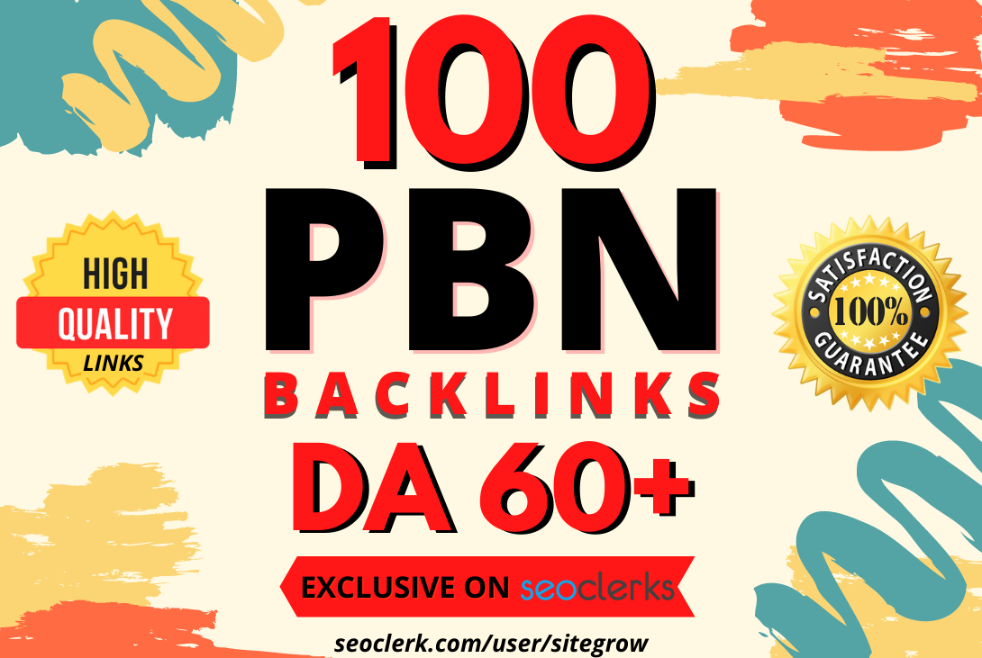 I will build 100 Homepage PBN Backlinks DA60+ to boost your websites