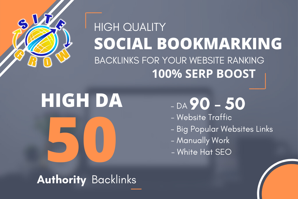 I will Build TOP 50 Social Bookmarking on High DA/PA Sites