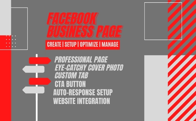 I will do Facebook business page setup,  design,  and management as your social media manager