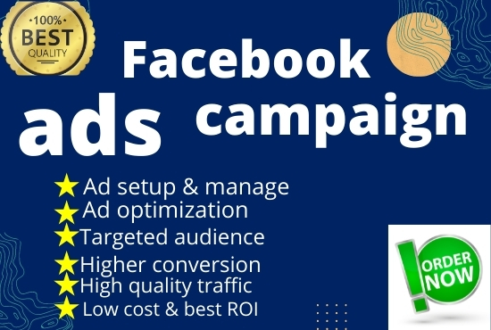 I will run facebook ads campaign and instagram ads campaign.